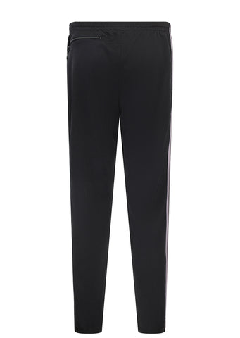 AW17 Poly Smooth Narrow Track Pant in Black