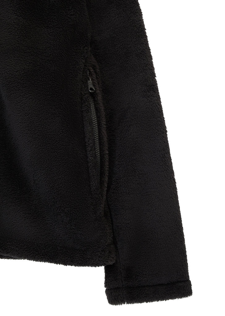 Funnel Neck Polar Fleece in Black