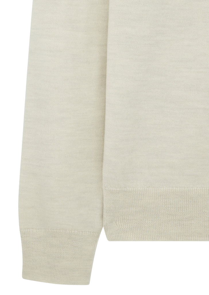 Dundee Rollneck Sweater in White