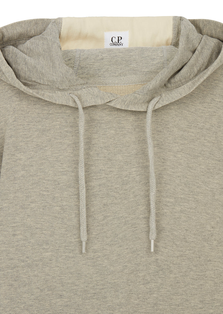 AW17 Light Fleece Hooded Sweatshirt in Grey