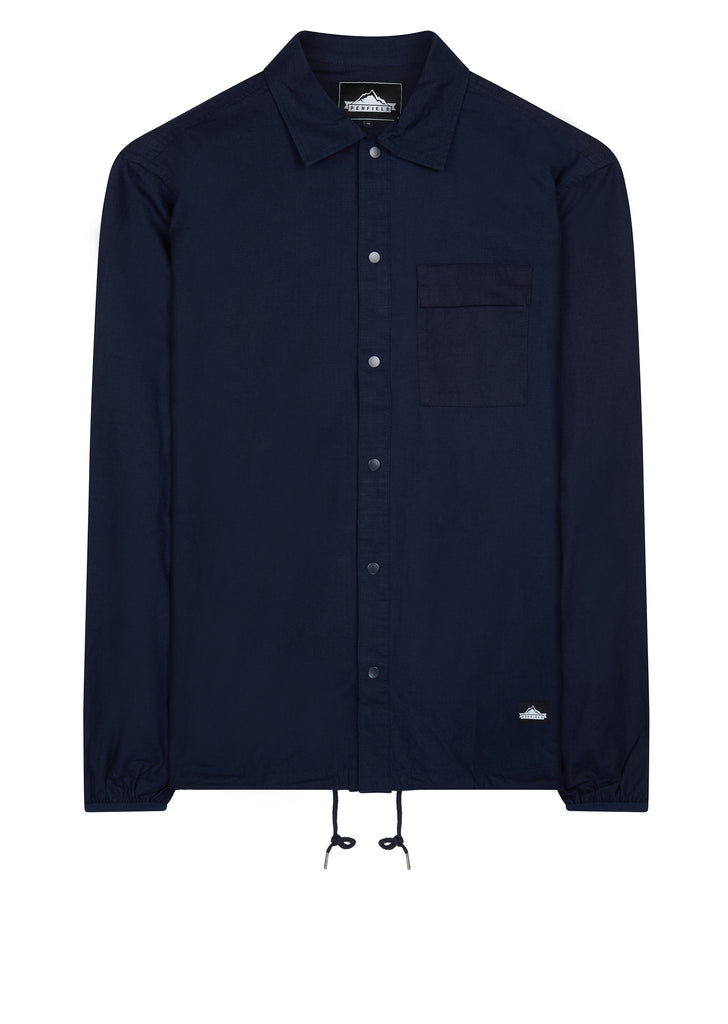 AW17 Blackstone Cotton Ripstop Shirt in Blue