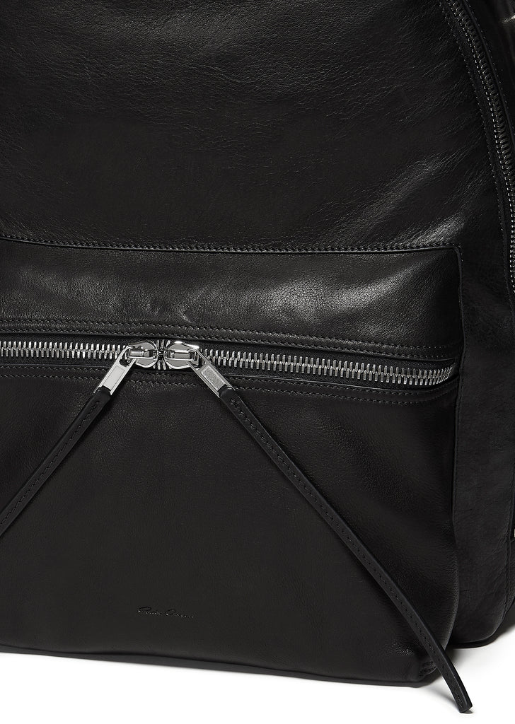 Rick Owens Leather Backpack in Black