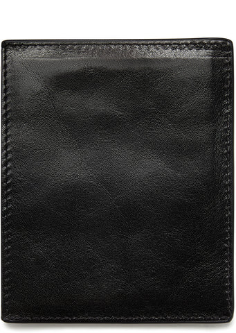 AW17 Smooth Grained Card Holder in Black