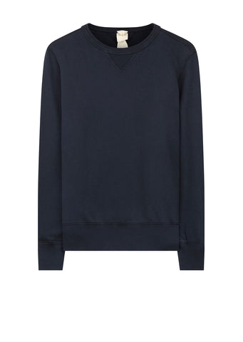 AW17 Mako Cotton Crew Sweat in Navy