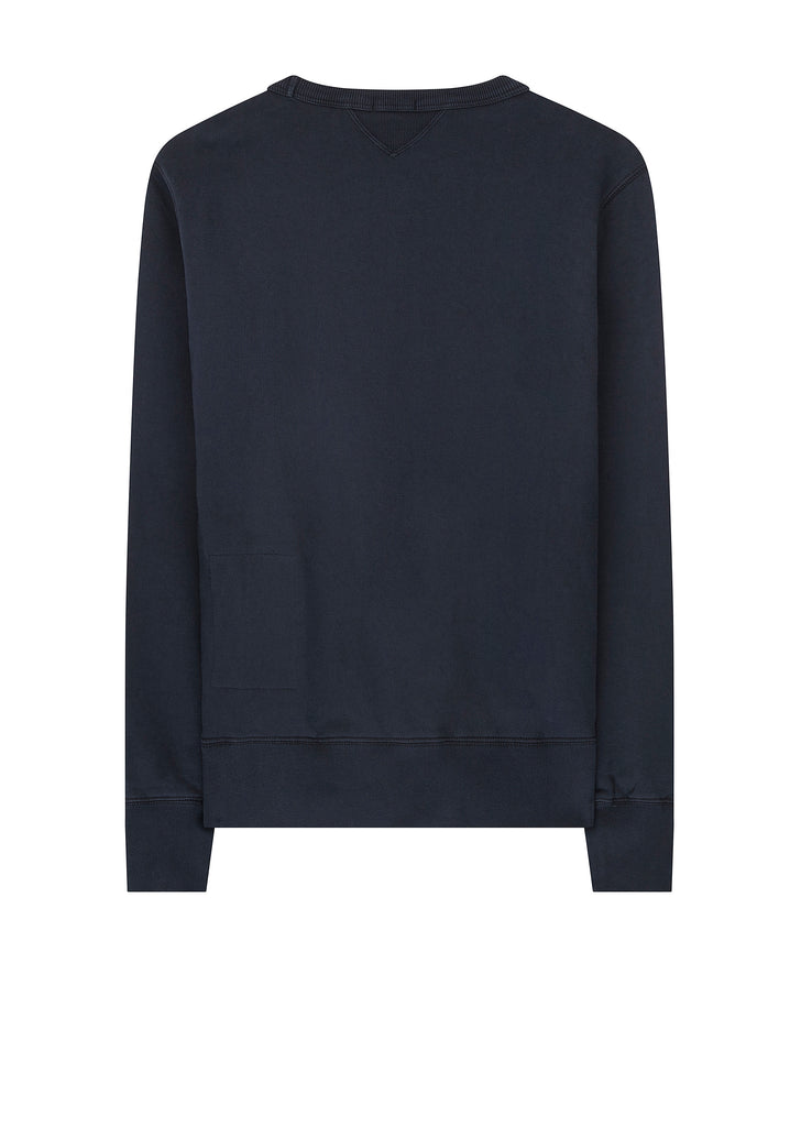 Mako Cotton Crew Sweat in Navy