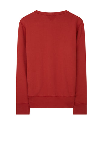 AW17 Mako Cotton Crew Sweat in Red