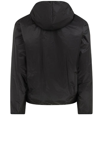Nylon Hooded Jacket in Black