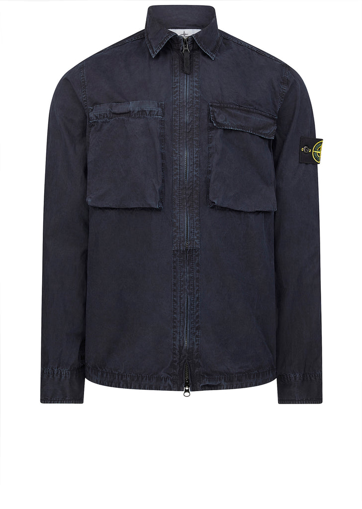 T.Co+Old Effect Overshirt in Navy Blue