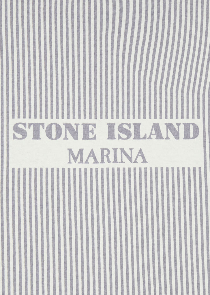 Marina Embroidered Stripe T-Shirt in Lavender
