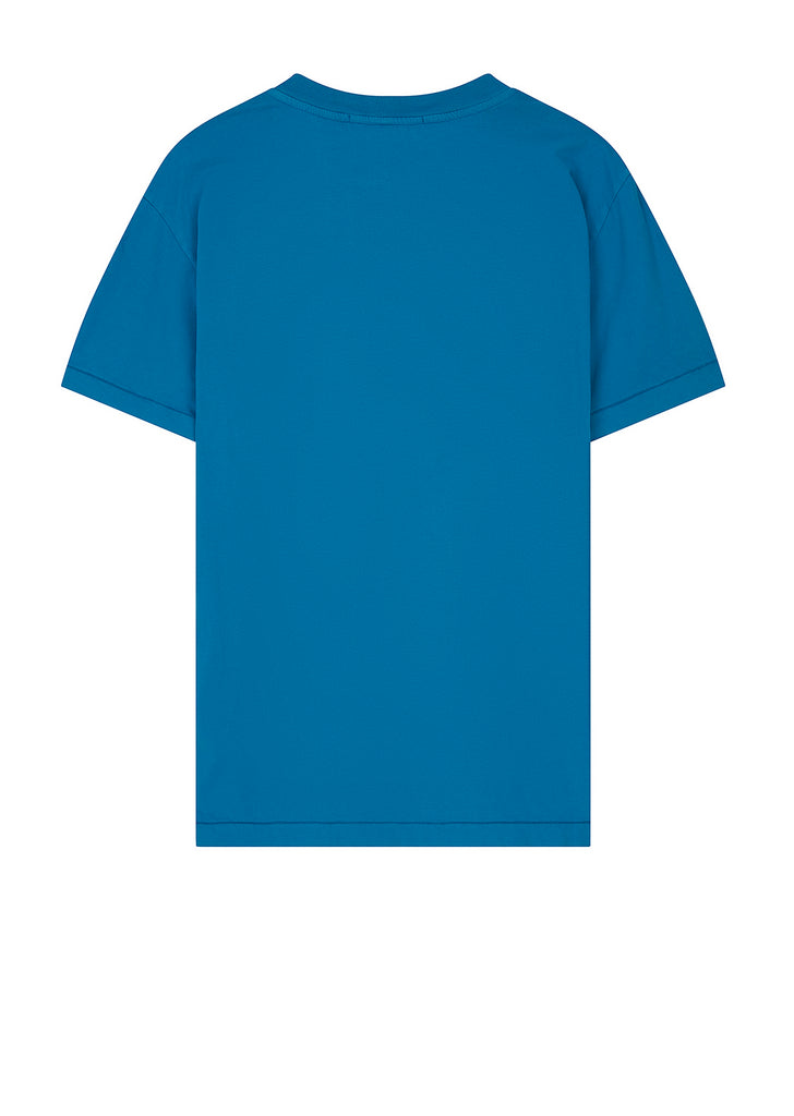 Small Logo Patch T-Shirt in Cobalt Blue