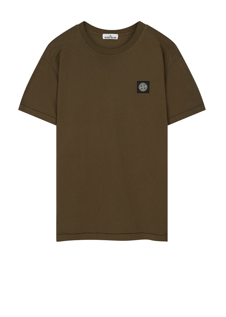 Small Logo Patch T-Shirt in Military Green