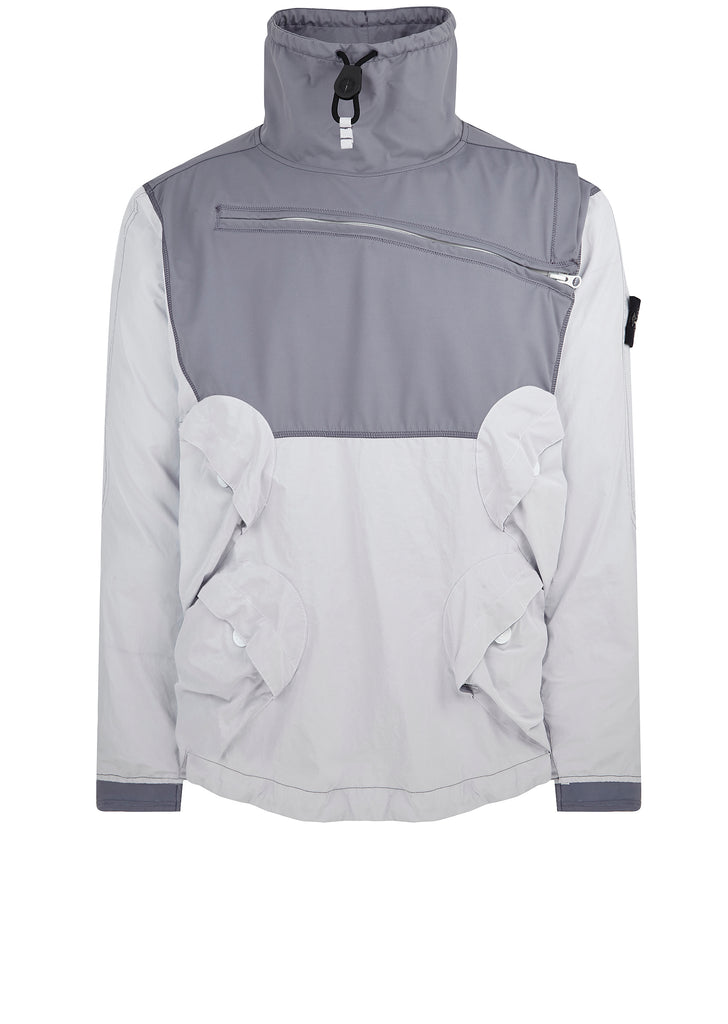 Garment Dyed Plated Reflective Jacket in Purple