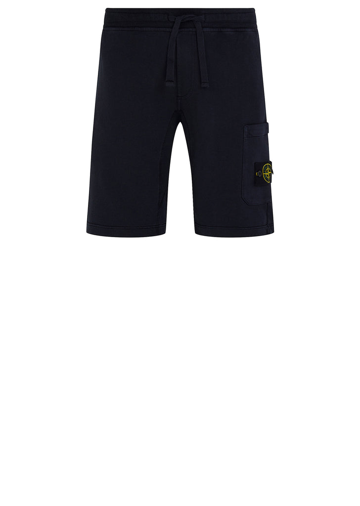 SS18 Cotton Fleece Bermuda Shorts in Navy Blue