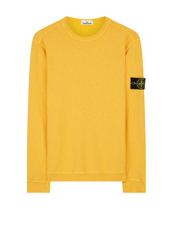 SS18 Stone Island T.Co+Old Effect Sweatshirt in Yellow