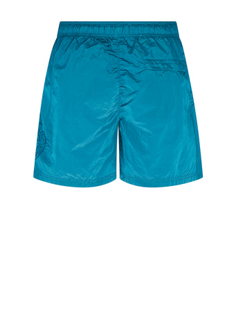 Nylon Metal Swim Shorts in Blue