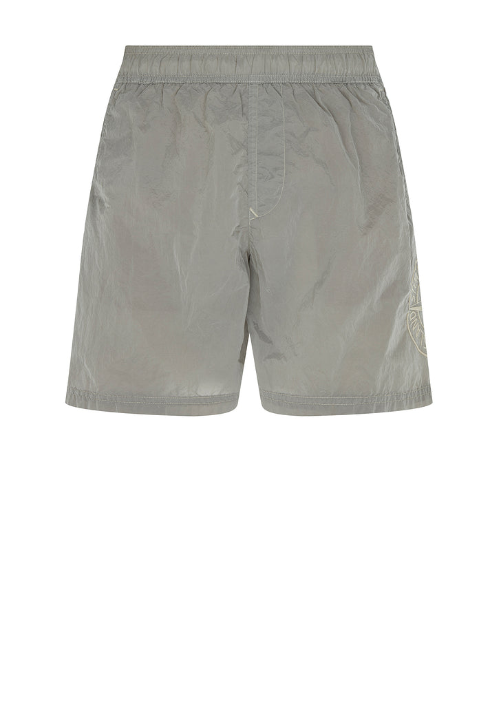 Nylon Metal Swim Shorts in Grey