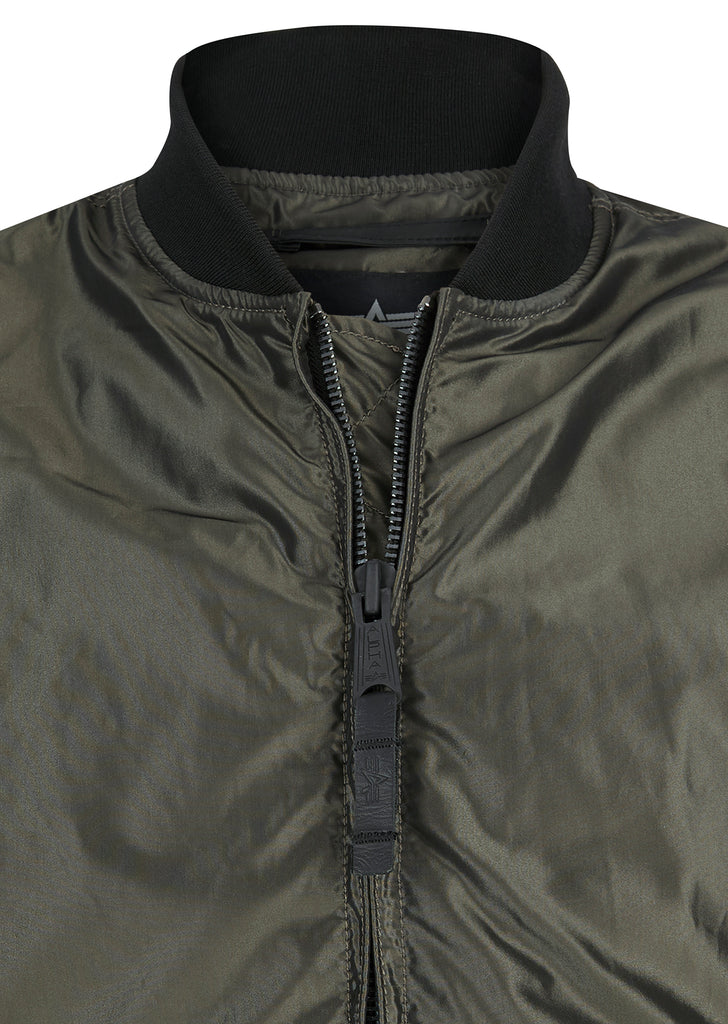 MA-1 Lightweight Iridium Bomber Jacket in Green