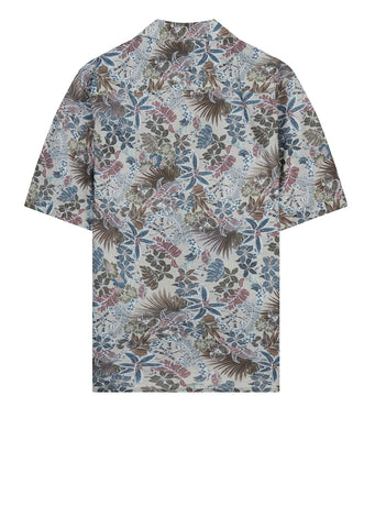 Panama Leaf Print Shirt in Green