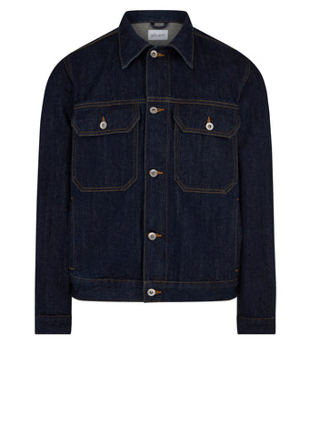Japanese Denim Utility Jacket in Indigo