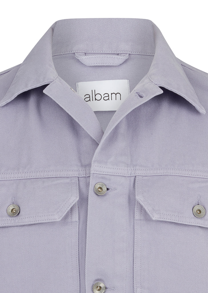 Garment Dyed Utility Jacket in Lavender