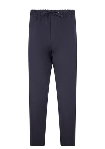 Drawstring Cotton Trouser in Navy
