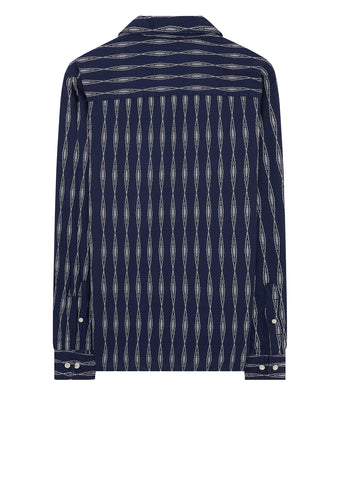 Camp Collar Shirt in Aztec Navy