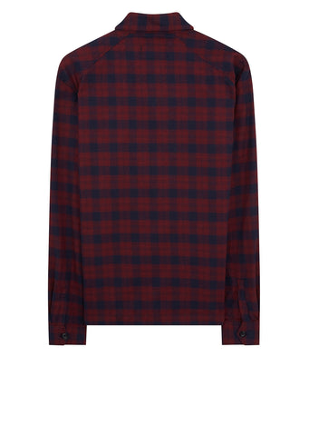 Plaid Overshirt in Red