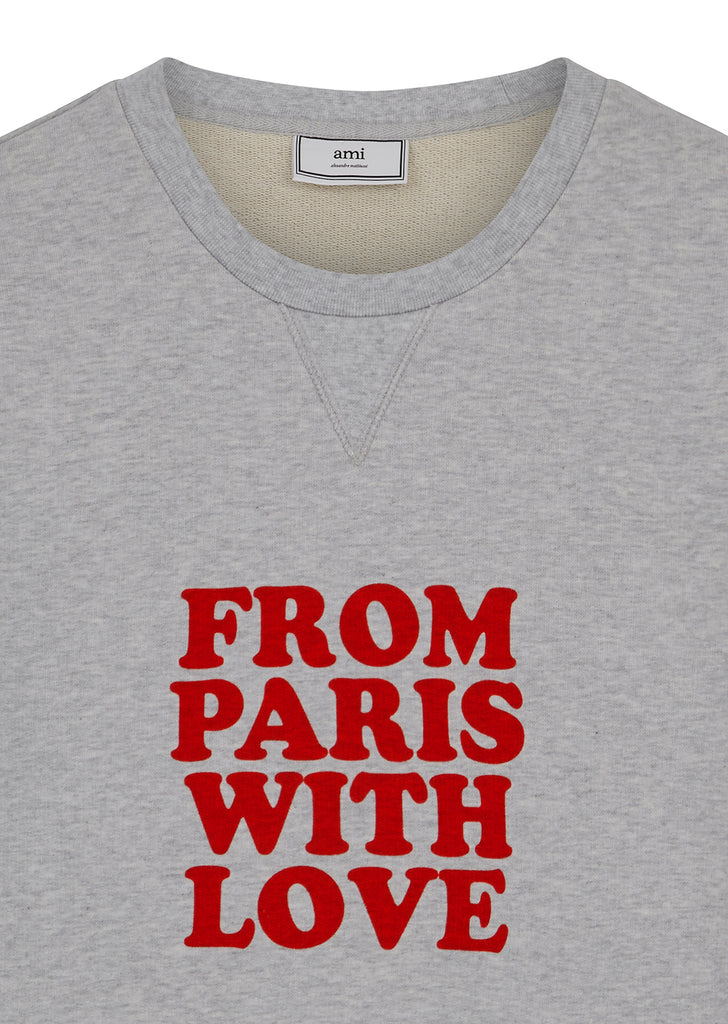 From Paris With Love Sweatshirt in Grey