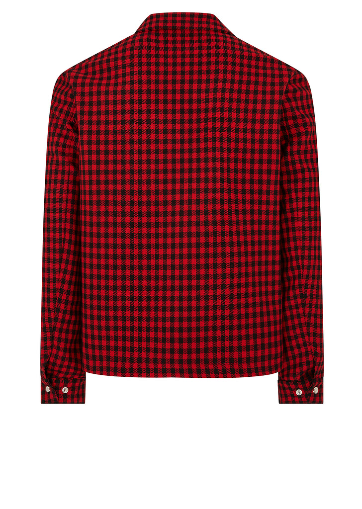 SS18 Checked Coach Jacket in Red