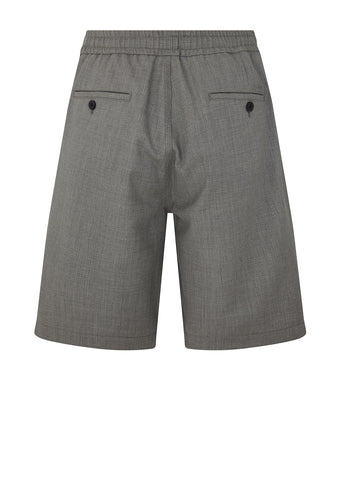 Tailored Wool Bermuda Short in Heather Grey
