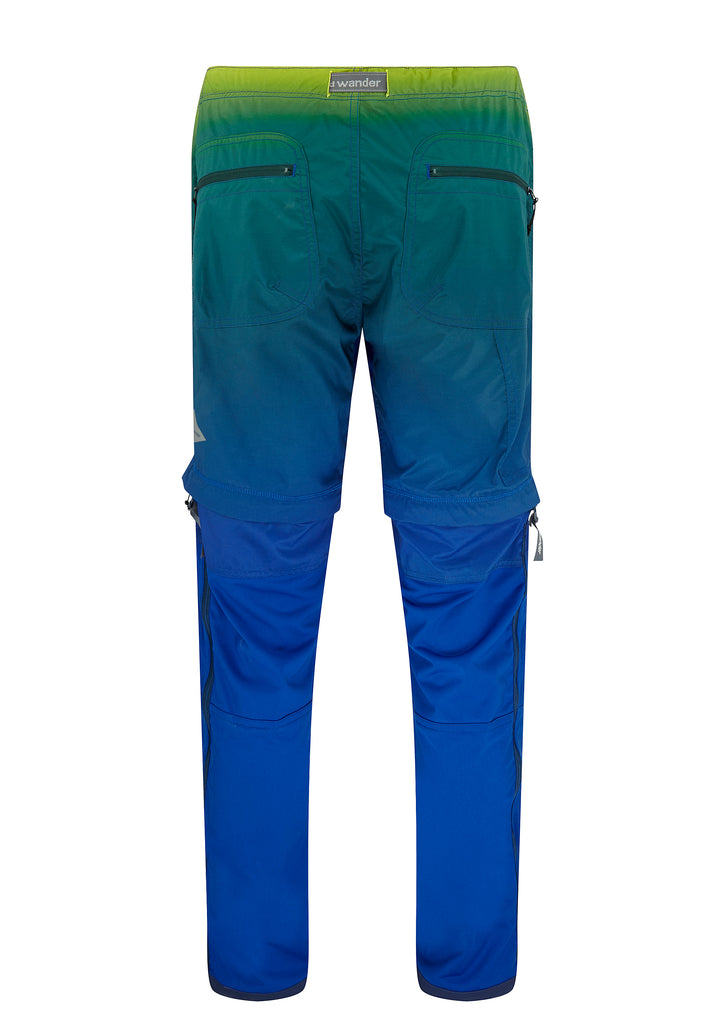 SS18 Gradient Colour Convertible Trek Trousers in Blue