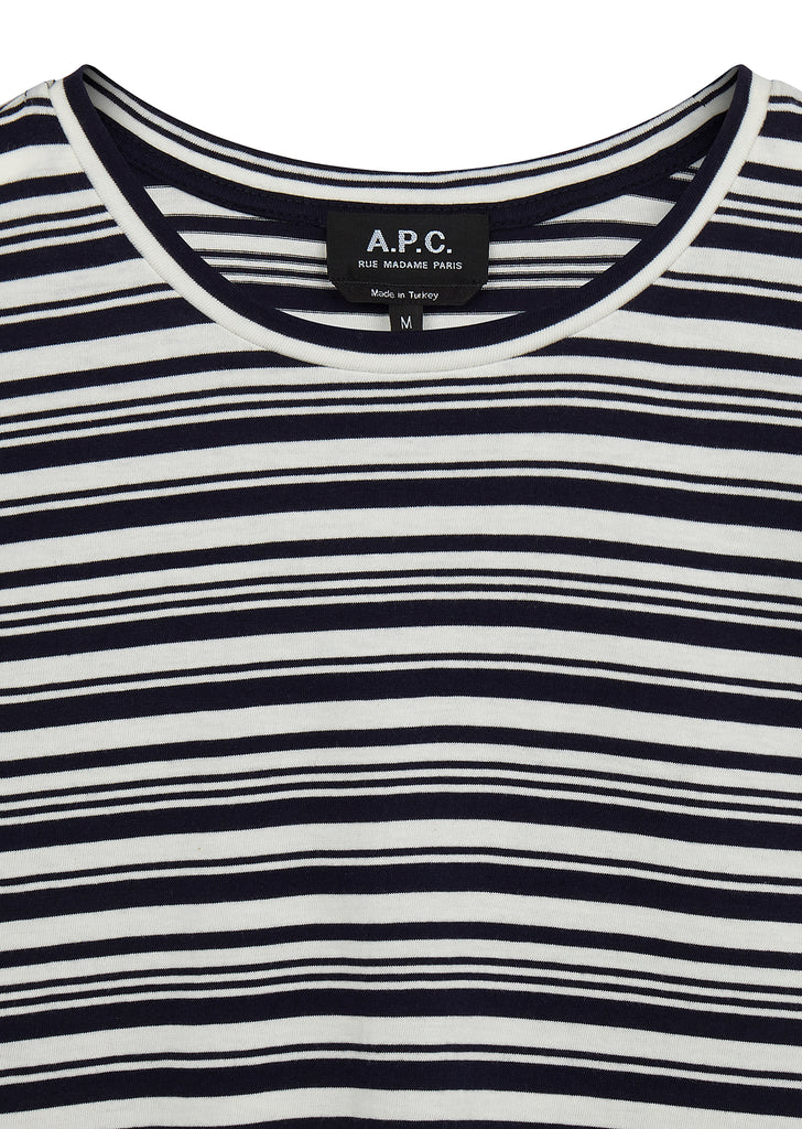 Rody Stripe T-Shirt in Navy Blue