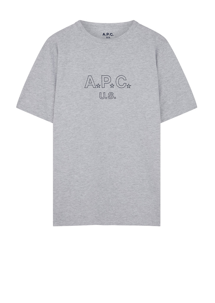 US Star T-Shirt in Heathered Grey