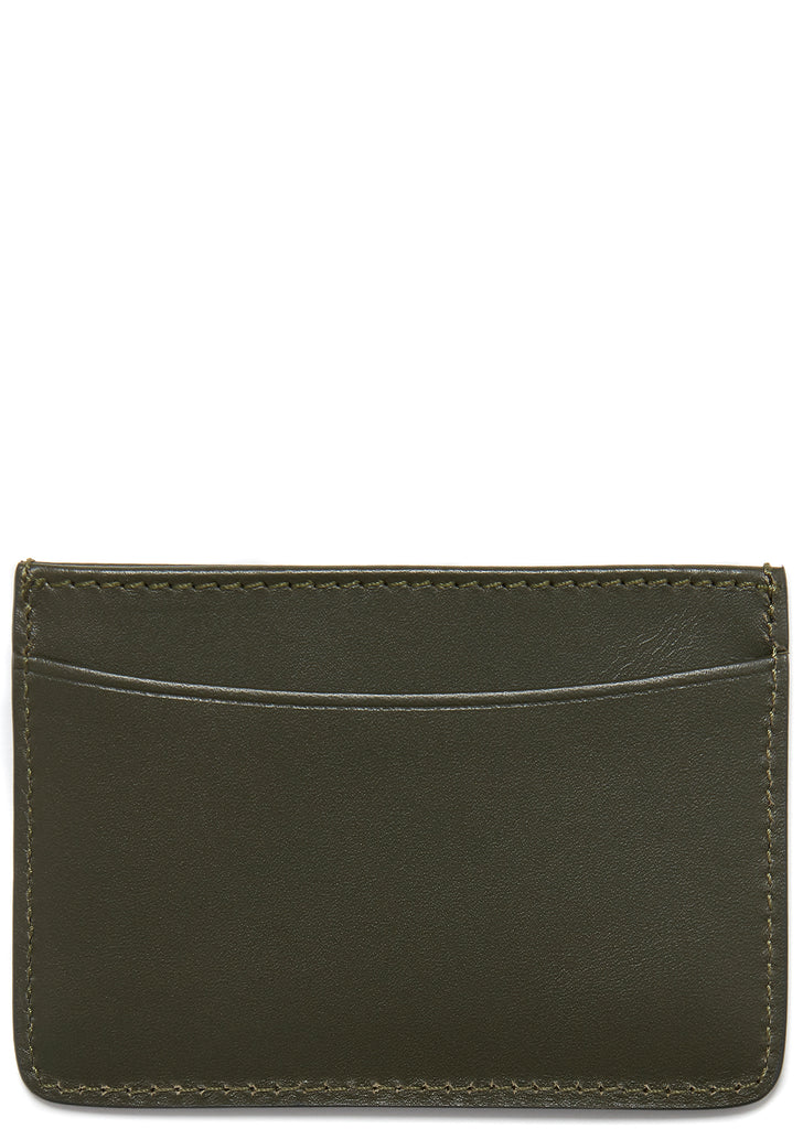 Andre Leather Cardholder in Military Khaki