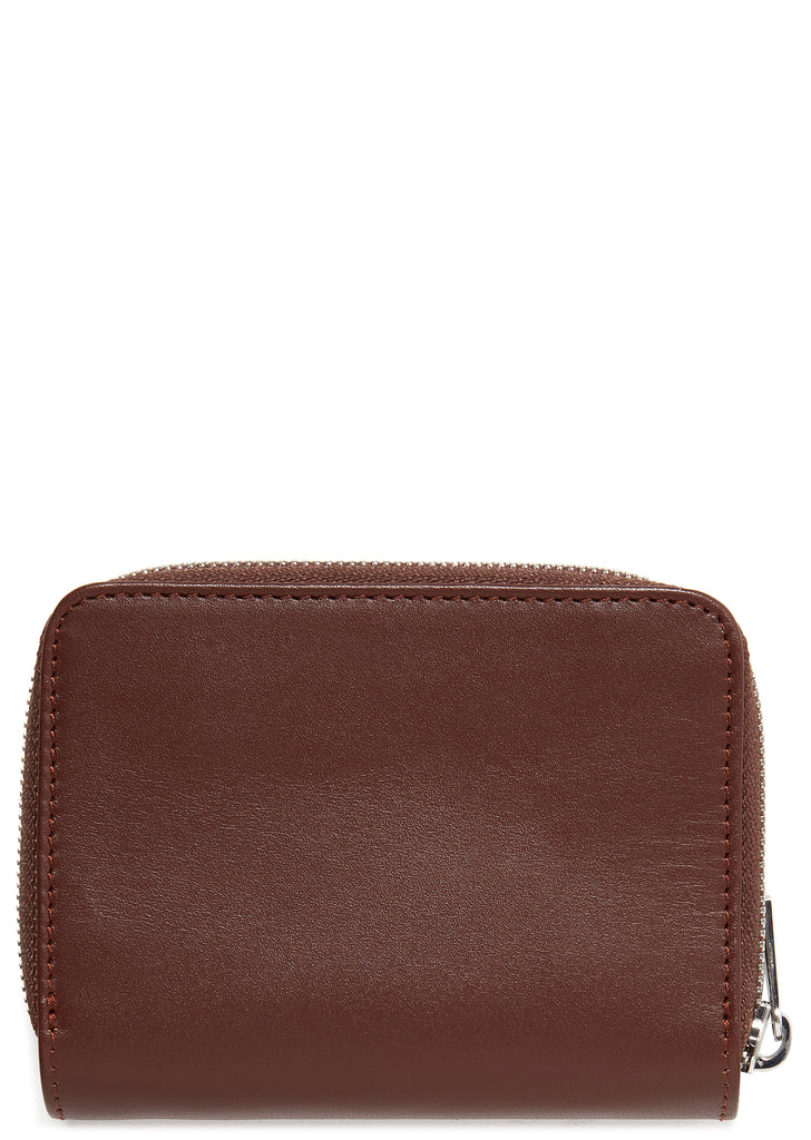 Emmanuelle Leather Compact Wallet in Nut Brown