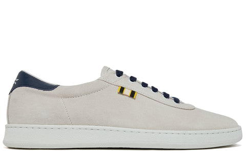 APR002 Suede Low in White