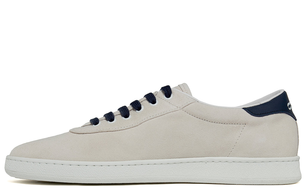 SS18 APR002 Suede Low in White