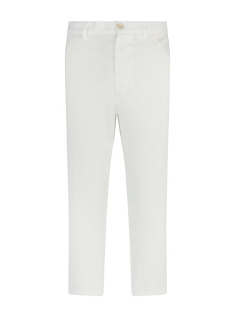 Cropped Trousers in White