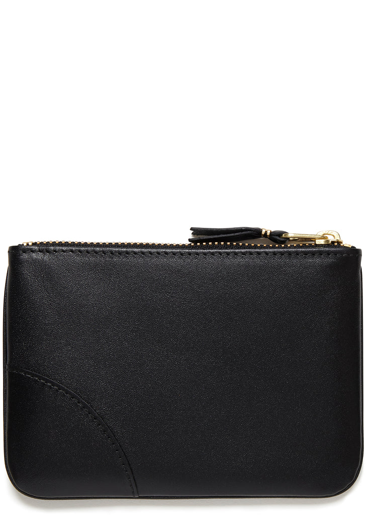 Leather Coin Wallet in Black