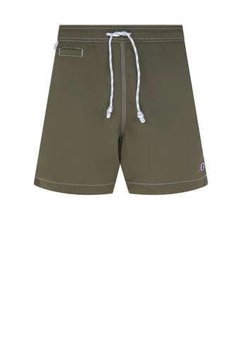 Reverse Weave Swim Short in Green