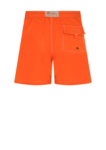 Reverse Weave Swim Short in Orange