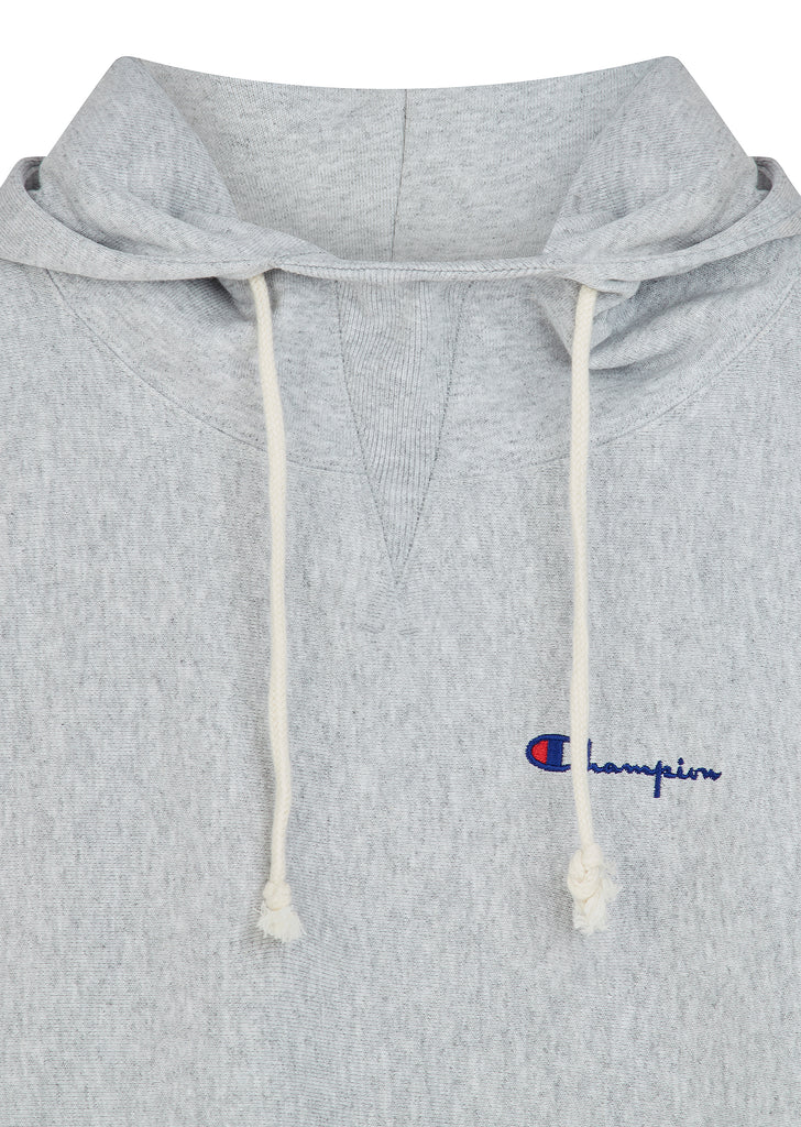 Reverse Weave Mini Script Logo Hoody in Grey