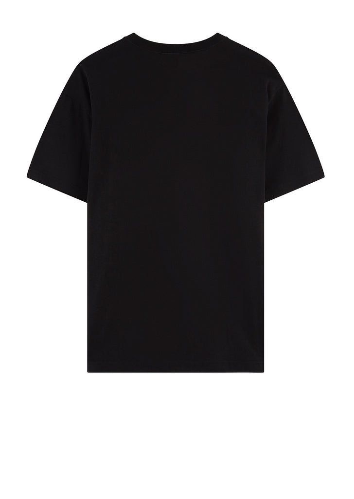 Oversized Deconstructed Crew Neck T-Shirt in Black