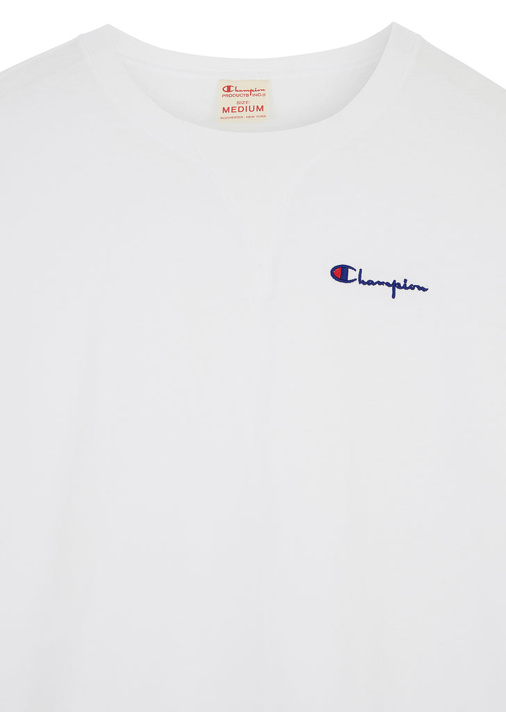 Oversized Deconstructed Crew Neck T-Shirt in White