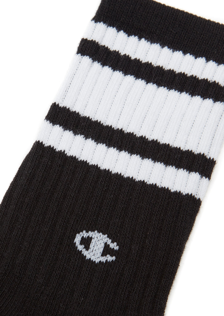 Striped Sports Socks in Black