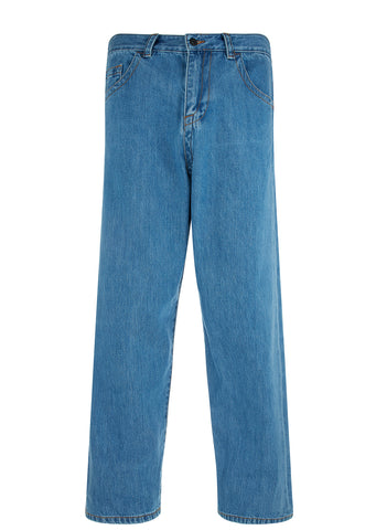 Bleached Denim Jeans in Blue