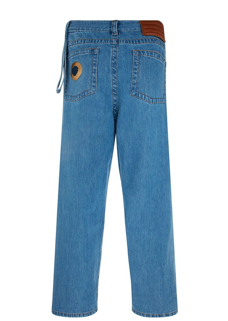 SS18 Bleached Denim Jeans in Blue