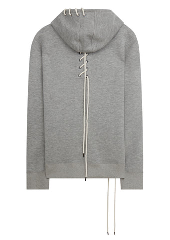 SS18 Lace Bonded Hoodie in Grey