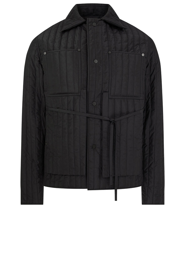 SS18 Quilted Workwear Jacket in Black
