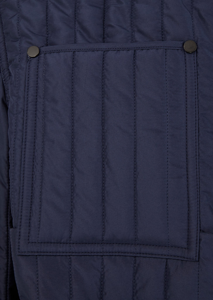 Quilted Workwear Jacket in Navy